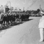 Помком САВО О.И.Городовиков приветствует отряд альпинистов в Ташкенте. г.Ташкент, 1937 г.
